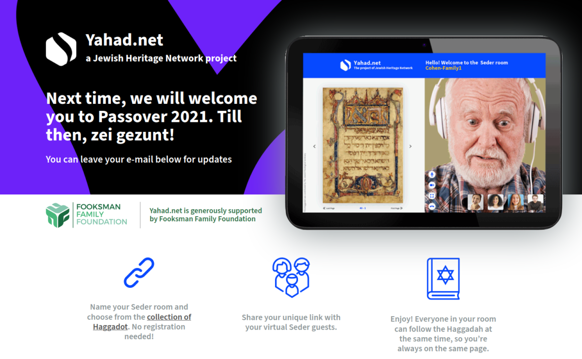 Virtual Passover: how we allowed family and friends to celebrate the Jewish holiday online